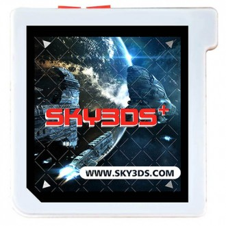 Sky3DS+ flashcard to playing